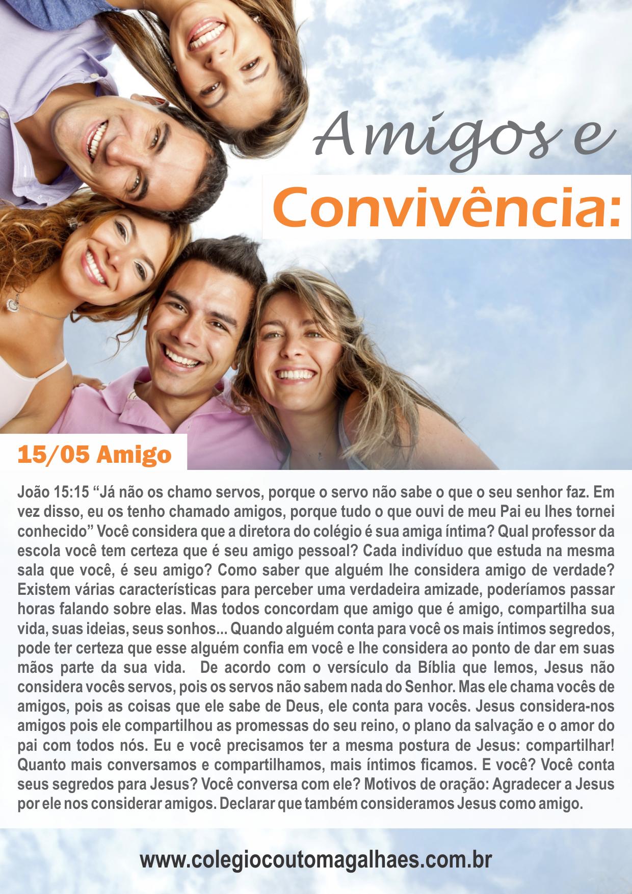 Devocional 15/05 - Amigos